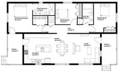 Passive solar layout with a modern flair.