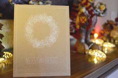 Una tarjeta navideña del estilo Clean&Simple