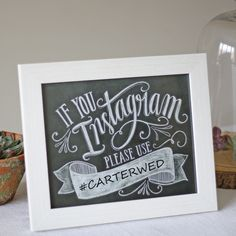 Wedding Instagram Hashtag Print - available from @theweddingomd www.theweddingofmydreams.co.uk