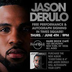 Jason Derulo Free Performance & Autograph Signing - http://orsvp.com/event/jason-derulo-free-performance-autograph-signing/