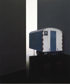 Tim Eitel, Wagen, 2005. Oil and tempera on canvas