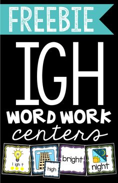 Teaching the Long I sound IGH? This FREEBIE contain four word work centers that will have your students stretching out, matching, sorting, and hunting for long IGH words!
