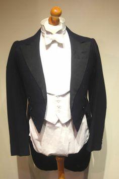 Bespoke 1920s White tie Evening suit tailcoat - size 38 1920s Mens Clothing, Men's Clothing, Vintage Tuxedo, Morning Suits, Flappers, Belle Epoque, Garden Wedding, Bespoke, Buffalo