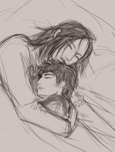 Remember one of these sketches for the Snarry story? I finally paint it! It looks much better than the sketch, right?