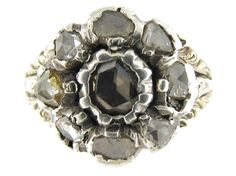 A Georgian Rose Cut Diamond Cluster Ring from the Antique Jewellery Company, £1275