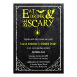 Eat Drink and Be Scary Halloween Wedding Invite...
