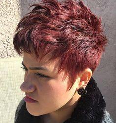Wow!! Deze 10 korte kapsels in verschillende donkere rode kleuren moet jij ook zien! - Kapsels voor haar