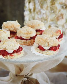 Mini strawberry shortcakes by Caviar & Bananas in Charleston.
