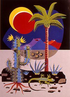 Art by César Manrique Banksy Graffiti, Arte Steampunk, Graphic Prints, Art Prints, Vintage Tiki, Different Art Styles, Kunst Poster, Sketchbook Inspiration, Cactus Flower