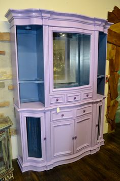 Custom hand painted buffet and hutch