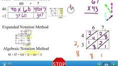 HW#012 U2 Lesson 13 Methods Double Digit Multiplication