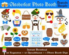 Oktoberfest Foto Requisiten49 Pieces 38 von HappyFiestaDesign