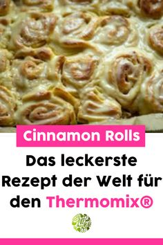 Genieße diese leckeren Cinnamon Rolls aus dem Thermomix® am besten noch warm. Zimtschnecken kann jeder. Wir veredeln die kleinen Köstlichkeiten mit dickem Zuckerguss obendrauf! Hier gibt es die perfekte Schritt für Schritt Anleitung.