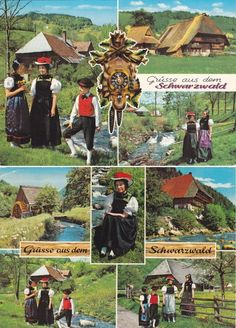 8 Vintage Costume Postcards  Black Forest  Germany  by P8iosities, €5.50