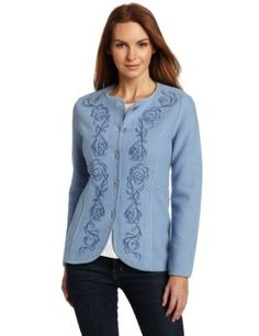 Pendleton Women's Petite Embroidered Boiled Jacket, Cambridge Blue/Bristol Blue, Medium Pendleton. $43.06