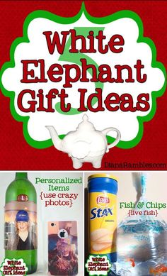 White Elephant Gift Ideas - Need a gift for a holiday party? Check out these funny White Elephant Gift Ideas that you can make. They are sure to make you the hit of the party. Funny Christmas Presents, Gag Gifts Christmas, Christmas Games, Christmas Humor, Holiday Gifts, Christmas Ideas, Santa Gifts, Holiday Fun, Holiday Ideas