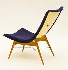 Miroslav Navrátil; Lounge Chair for Český Nábytek, c1960.