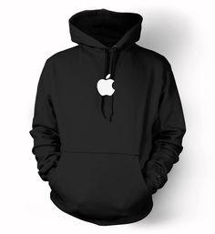 Apple logo Hoodie Mac computer iphone ipad geek Steve Jobs fan Hooded Sweatshirts S-3XL by NiftyShirts on Etsy https://www.etsy.com/listing/215030885/apple-logo-hoodie-mac-computer-iphone
