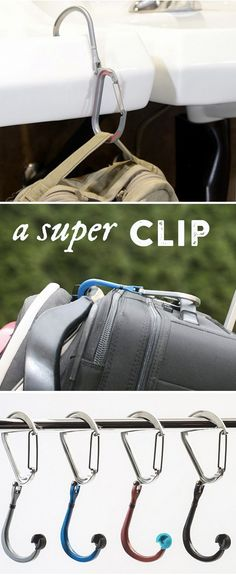 The Qlipter is a seriously handy tool, combining the functionality of a carabiner with a rotating hook. From hanging gear to keeping bags off the ground to securing things together, there are hundreds of uses for this hybrid hook-clip.