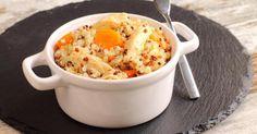 Recette de Quinoa aux carottes et poulet. Facile et rapide à réaliser, goûteuse et diététique. Ingrédients, préparation et recettes associées.