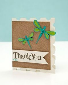 A cute thank you card from Close To My Heart