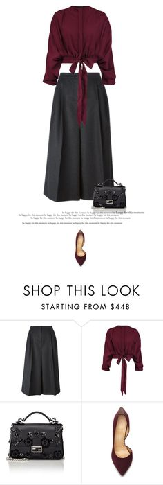 """""""Crop #1"""" by anja-173 ❤ liked on Polyvore featuring Valentino, Maria Grachvogel, Fendi, Charlotte Olympia and sayingsandstylestuff"""