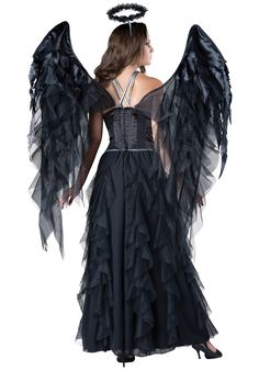 Prove that dark angels have all the fun with this Women's Dark Angel Costume!