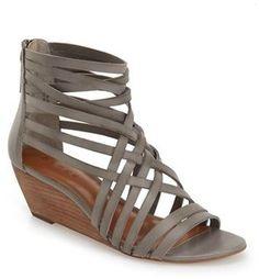 Hinge 'Neta' Leather Wedge Sandal (Women) #wedge