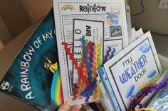 Storm in the Night {FI♥AR}: Supplement A Rainbow of my Own by D. Freeman, rainbow art activity, what colors remind me of