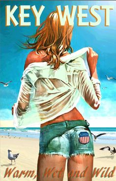 KEY LARGO Florida Keys Marilyn Monroe Poster New Retro Pin Up Art Print 263