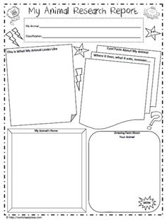 Animal Report Template  Making Lemonade In Second Grade Animal