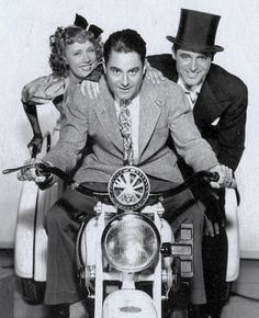 Irene Dunne, director Leo McCarey and Cary Grant promote The Awful Truth (1937).
