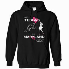 TEXAS GIRL IN MARYLAND WORLD, Order HERE ==> https://www.sunfrog.com/LifeStyle/TEXAS_MARYLAND-Black-76579990-Hoodie.html?89701, Please tag & share with your friends who would love it , #christmasgifts #renegadelife #superbowl