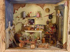 Miniature Gardening Scene 1:12 Scale Charles Wysocki