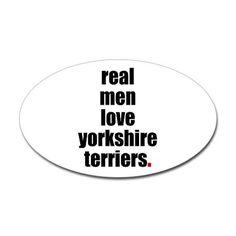 Real men love yorkies!  Good thing Kris love my lil yorkie :)