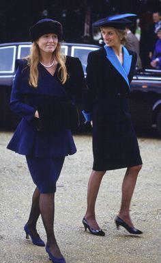 Diana with Sarah, Duchess of York, 1988