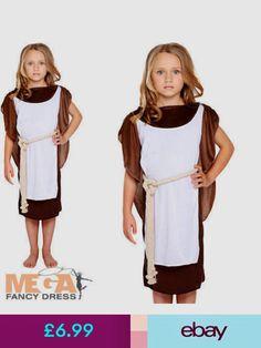 Kids Viking Girl Warrior Princess Saxon Norse 5-13 Years Fancy Dress Costume New