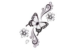butterfly tattoos | butterfly and dragonfly tattoos