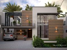 Gravity Designs in Pakastan Bungalow House Design, House Front Design, Small House Design, Modern House Design, Home Design, Modern House Facades, Modern Architecture House, Modern House Plans, Architecture Design