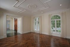 Wonderful wood floors and molding on the ceiling! #BaskingRidgeNJRealEstate