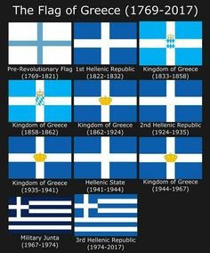 History of Greek flags