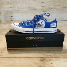 Check out this item in my Etsy shop https://www.etsy.com/listing/240674723/womens-converse-colts-no-glitter-blue