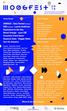 Technology has always influenced music. Moogfest festival meshes these two to create a weekend of technology infused art as well the inclusion of speakers who discuss the future of mediums to transform sound and consciousness.