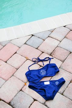 monogrammed swimsuit by Rah Rah Designs