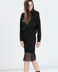 Image 1 of GUIPURE LACE SKIRT from Zara