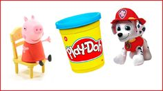 Peppa Pig Play Doh Stop Motion Peppa Pig Paw Patrol Surprise Play Dough ...