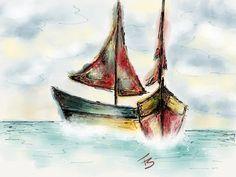 Marina!!! #madewithpaper #marina #mar #barco #boat #sea #beach #drawing #ipadart #IpadArtist #desenho #ilustração #ilustraipad #FeSendra  Made with Paper