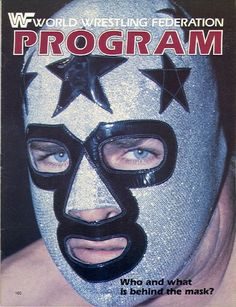 WWF Wrestling Program - Volume 105 - Pro Wrestling masked man