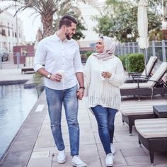 aya mahovi Couple Outfits, Couple Clothes, Cute Muslim Couples, Hijab Trends, Love In Islam, Hijabi Girl, Beautiful Couple, Couple Shoot, Hijab Fashion