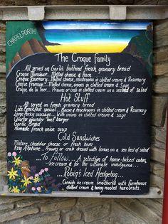 Chapel Porth beach cafe menu by Food, Fash, Fit, via Flickr